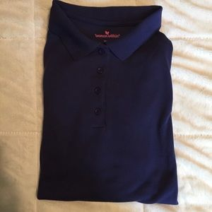 Navy Woman Within Short Sleeve Polo Top